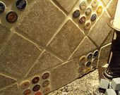 Bottlecap backsplash tile by StonePurposeGifts on Etsy, $10.00 USD