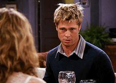 When Brad Pitt showed up to Thanksgiving dinner. #Friends