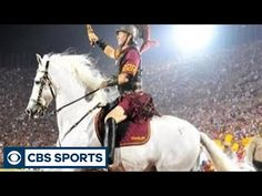 The USC Trojans are known for their success on the field when it comes to college football, but their mascot has been a tradition at games since CBSSpo. Usc College, Sports Channel, Cbs Sports, Usc Trojans, Things To Come, Traditional, Band, Youtube, Sash