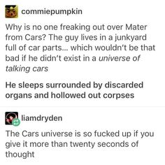 What do you mean 20 seconds how long does it take you to realize that there are TALKING CARS JESUS PEOPLE PUT YOUR HEADS ON THE RIGHT WAY