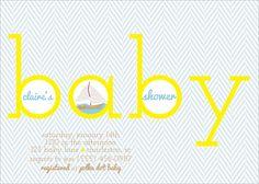 nautical baby shower invite, nautical baby shower, boy shower invites... love everything and anything nautical!