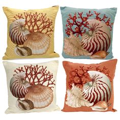 Seashell Pillows (Assorted Colors and Styles)