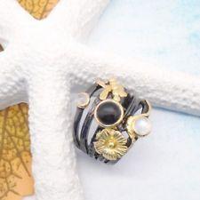 Mondstein Onyx gold weiß schwarz Design Ring Ø 17,75 mm 925 Sterling Silber neu Black Rhodium, Cufflinks, Gemstone Rings, Gemstones, Gold, Accessories, Jewelry, Design, Stones