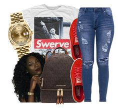 """""""*snaps fingers like Will*"""" by glowithbria ❤ liked on Polyvore featuring Retrò, Rolex, MICHAEL Michael Kors and Puma"""