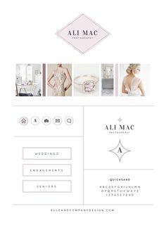 Brand style board for Ali Mac Photography - Elle & Company