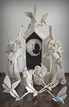 White - Magical Cabinet - sculpture - Mister Finch Textiles