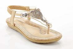 Henry Ferrara Women's Zita Fly Heart Shape Rhinestone Comfort Thong Sandal >>> Be sure to check out this awesome product.