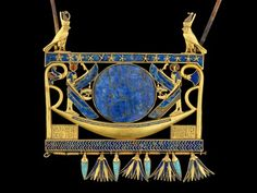 Pectoral of Ahoshenk II, gold, carnelian, lapis lazuli, feldspar; H. 7.7cm; H. 21st Dynasty.