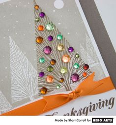 Love the fall twist on a winter landscape stamp by Shari Carroll