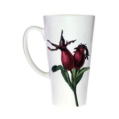 Pretty Coffee Mug - Floral Coffee Mug - Latte Mug - Coffee Lovers - Kitchen…  with <3 from JDzigner! www.jdzigner.com