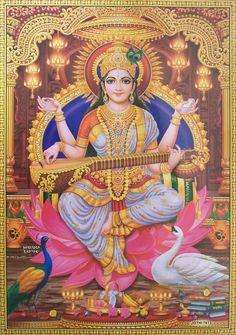 Hindu Goddess Saraswati Maa Mata