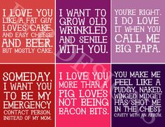 Sarcastic Valentines by britneyleighs on Etsy -- I can relate to old, wrinkled and senile.