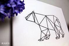 VIDEO TUTORIAL Geometric Animal String Art (enderbynest)