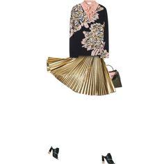"""Metallic Skirt"" by yasminasdream on Polyvore"