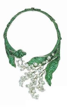 Christian Dior lily-of-the-valley #necklace http://amzn.to/2ryWDlp