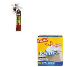 KITCOX70427SBK11019880  Value Kit  Starbucks VIA Ready Brew Coffee SBK11019880 and Glad ForceFlex TallKitchen Drawstring Bags COX70427 ** Read more reviews of the product by visiting the link on the image. (This is an affiliate link) #CoffeeEffects Coffee Effects, Instant Coffee, Drawstring Bags, Program Design, Starbucks, Brewing, Image Link, Advertising, Kit