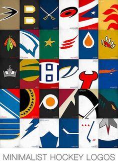 Minimalist NHL Logos by SixSix8.com Nhl Logos 84b6a27ad380