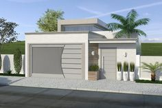 Planta de casa com pé direito alto de vidro - Projetos de Casas, Modelos de Casas e Fachadas de Casas