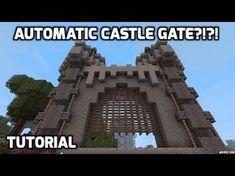 Minecraft – Fast Castle Gate Full Tutorial - Minecraft World Minecraft Redstone, Minecraft Plans, Minecraft Games, Minecraft Tutorial, Minecraft Blueprints, Minecraft Creations, Minecraft Crafts, Minecraft Stuff, Minecraft Structures