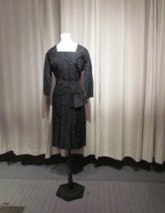 Fabulous BROCADE Black FORMAL COCKTAIL Dress by BeauMondeVintage, $158.00