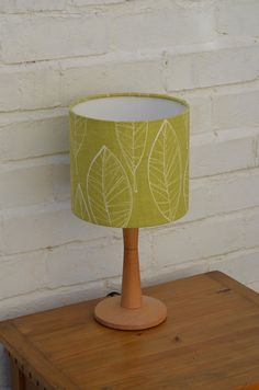 Lampshade green lampshade retro lamp lighting by ShadowbrightLamps