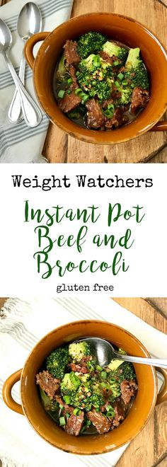This delicious Instant Pot Beef and Broccoli is a healthier spin on the take-out favorite! It's gluten-free, dairy-free, and 21 Day Fix approved!