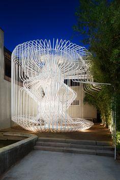 Temporary / Demonstration Architecture: Warren Techentin Architecture: La Cage aux Folles, Los Angeles, USA. Photo credit: AZ Awards 2015