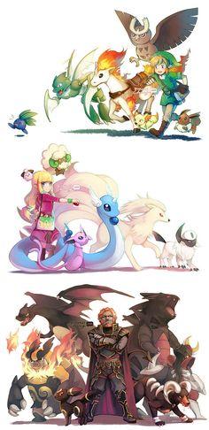 The Legend of Zeldamon by finni.deviantart.com on @deviantART Jeje, que excelente crossover entre la franquicia de Pokemon y la de TLOZ, en lo personal, me quedo con el equipo de Ganondorf. >:]