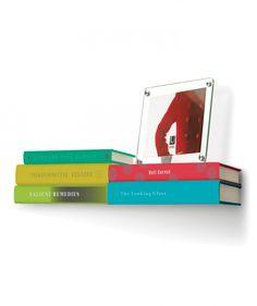 Conceal Double - Suspensor doble para libros, libros flotantes. $67.000 COP. Cómpralo aquí--> https://www.dekosas.com/productos/umbra-conceal-double-bookshelf-nikel-detalle