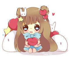 My commishies are closed now because of my school work and backed up scheduled, but I made an exception for my sweet bunnie buddie ♥♥ This is her adorable widdle Gummi-chan♥ Af...