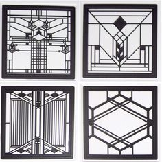 Hindostone Products-CoasterStone FWAS600 Frank Lloyd Wright Art Glass II Metal…