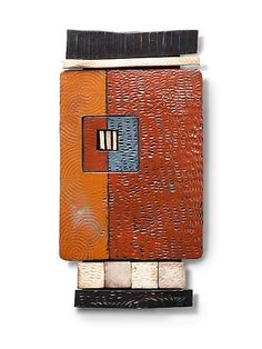 Tile Shard by Rhonda Cearlock: Ceramic Wall Sculpture available at www.artfulhome.com