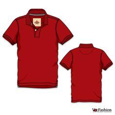 Men's Classic Polo Neck T-Shirt Vector Template