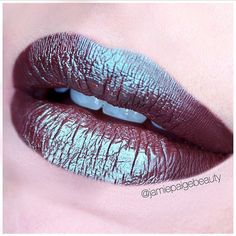 Try something new today!! We love seeing creative minds like Jamie Paige Beauty experiment with makeup! She used Makeup Geek's Insomnia pigment to create this dark & frosty duo chrome lip!