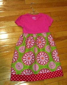 78a977ef8ec layer t-shirt tank top dress from old t-shirts reversible dress twirly  skirt sundays best clothing at MODA toddler skirt and shirt.