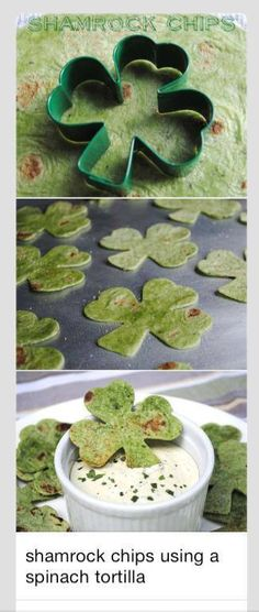 Shamrock Chip  The chips are quick and easy to make,