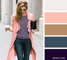 Great for a pink coat - 20 brilliant color combos for your wardrobe