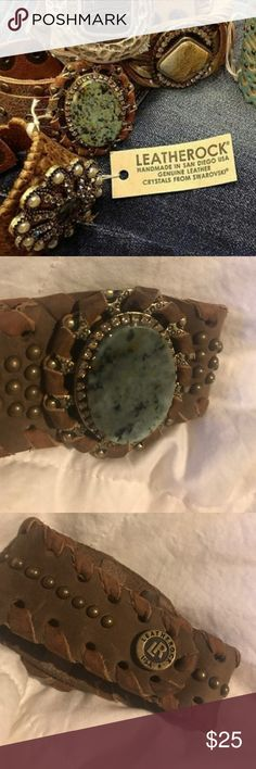 The Buckle - LEATHEROCK STONE BRACELET 🖤 Excellent condition Buckle Jewelry Bracelets