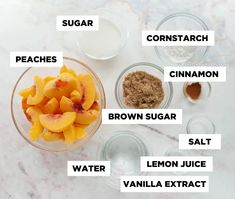 How to make your own homemade peach filling using fresh, frozen, or canned peaches! This peach filling is great for pie, hand pies, cake filling, or fruit topping! Takes less than 10 minutes to make. Ball Canning Recipe, Canning Recipes, Canning Peach Pie Filling, Canning Peaches, Canned Cherries, Peach Juice, Cake Fillings, Bakery Cakes, Yummy Treats