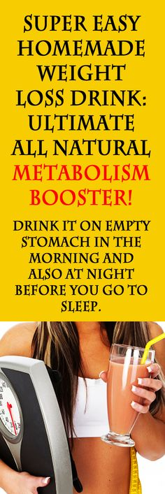 Super Easy Homemade Weight Loss Drink. #weightloss #loseweight #metabolismbooster #weightlossdrink