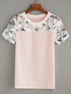 Shop Bird Print Mesh Insert Top online. SheIn offers Bird Print Mesh Insert Top & more to fit your fashionable needs.