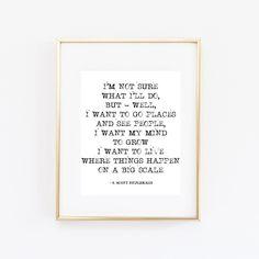 F. Scott Fitzgerald I'm Not Sure Print Art INSTANT DOWNLOAD PRINT art chic fashionable stylish motivational inspirational quote sweet water Beauty Decor