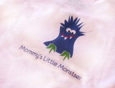 Mommy's Little Monster Onesie by HairballDesigns on Etsy, $10.00
