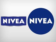 Logotipos antigo e novo da Nivea