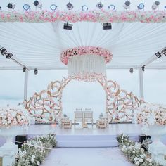 Kena and Viren Indian Wedding Receptions, Wedding Mandap, Wedding Altars, Wedding Table, Wedding Stage Design, Wedding Designs, Wedding Ideas, Peach Wedding Invitations, Wedding Hall Decorations