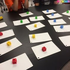 I love this idea for Guided Reading! Students read the word and if they get it right, they get to keep the cube. Whoever has the tallest tower at the end wins!