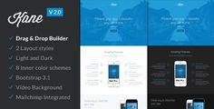 Kane v1.7.2 - Responsive App Landing Page + Builder  -  http://themekeeper.com/item/marketing/kane-app-landing-page-builder