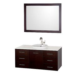 The Arrano Vanity Wall Mounted Set features compact design in a vanity with plenty of storage, blending simple lines and clean design with modern elements like Pure white glass counter with large semi-recessed porcelain sink, resulting in a modern yet timeless piece of bathroom furniture.