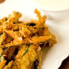Beer-Battered Zucchini Fries-I've got to try these, now just to find the perfect dipping sauce...