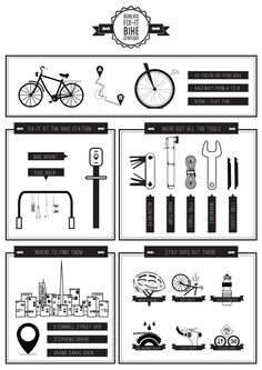 Dublin Graphic Designer. Info-graphic on the  use bike stations to be placed around to Dublin city
